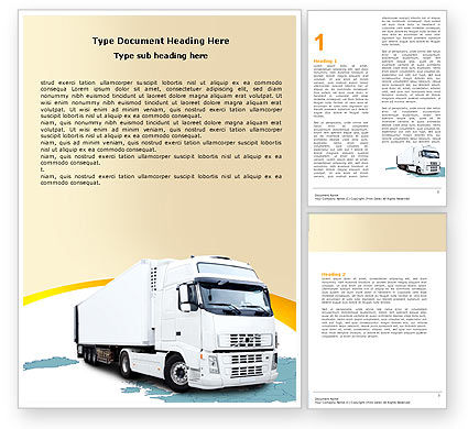 Truck Tractor Word Template, 05987, Cars/Transportation — PoweredTemplate.com