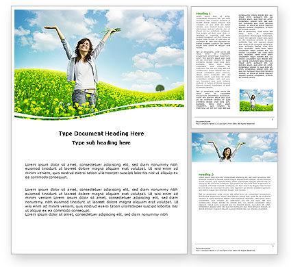 Sunshine Girl Word Template, 05989, People — PoweredTemplate.com
