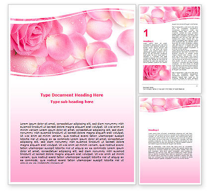 Holiday/Special Occasion: Rose Petal Word Template #05993