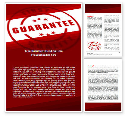 Quality Seal Word Template, 05994, Business Concepts — PoweredTemplate.com