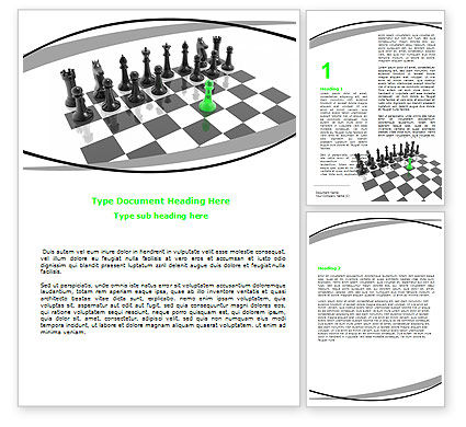 Chess Passed Pawn Word Template, 05996, Business Concepts — PoweredTemplate.com