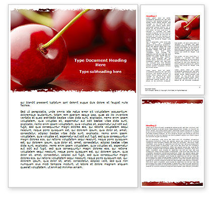 Cherry Word Template
