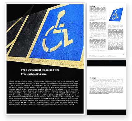 Medical: Handicapped Persons Policy Word Template #06002