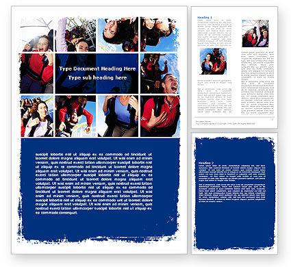 Art & Entertainment: Thrill Seeker Word Template #06008