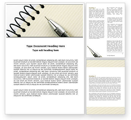 Planning Word Template, 06010, Business — PoweredTemplate.com