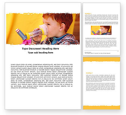 Aerosol Therapy Word Template, 06012, Medical — PoweredTemplate.com