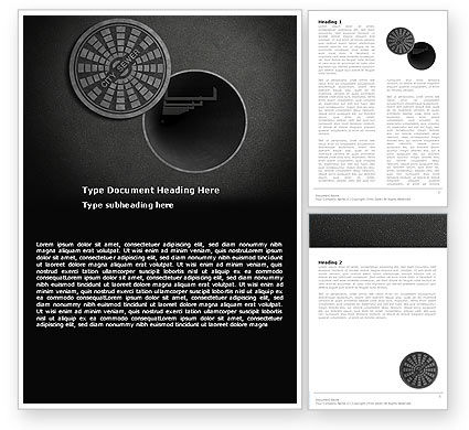 Careers/Industry: City Sewer Word Template #06013