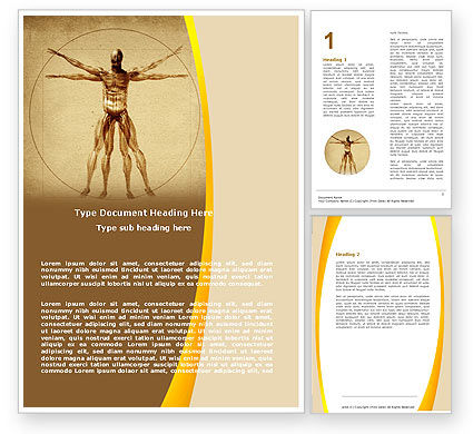 Vitruvian Man Word Template, 06014, Medical — PoweredTemplate.com