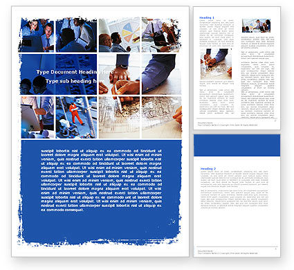 Group of Constructors Word Template, 06015, Business — PoweredTemplate.com