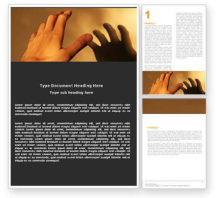 Reaching Hand Word Template, 06017, Medical — PoweredTemplate.com