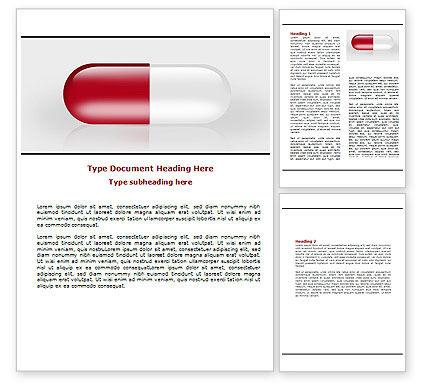 Red Pill Word Template, 06029, Medical — PoweredTemplate.com