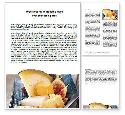 Cheese Word Template, 06038, Food & Beverage — PoweredTemplate.com
