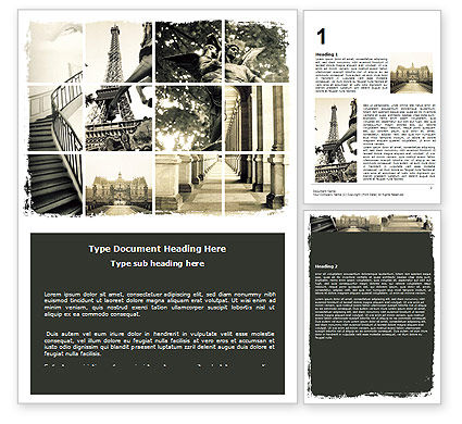 Paris Word Template, 06054, Flags/International — PoweredTemplate.com
