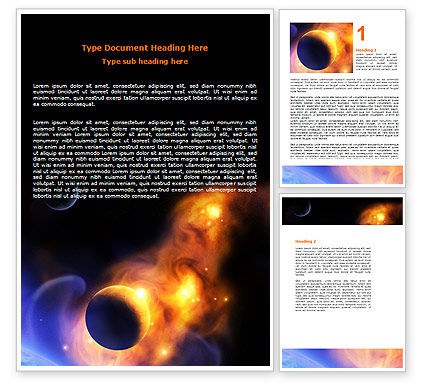 Nature & Environment: Solar Storm Word Template #06058