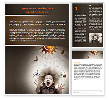 Education & Training: Kids and Science Word Template #06059
