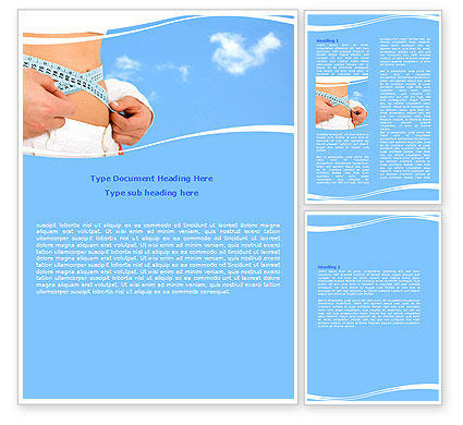 Slimming Word Template, 06061, Sports — PoweredTemplate.com