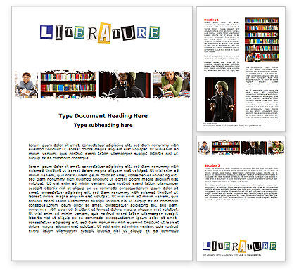Education & Training: Literature Word Template #06069