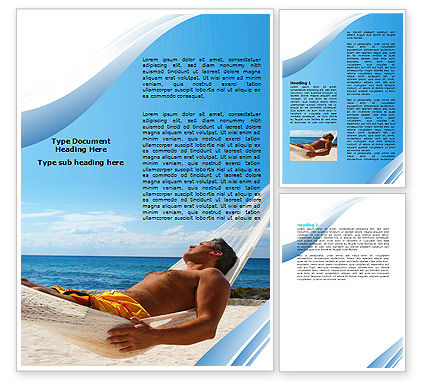 Hammock Word Template, 06071, Careers/Industry — PoweredTemplate.com