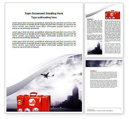 Travel Suitcase Word Template, 06076, Careers/Industry — PoweredTemplate.com