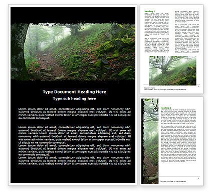 Nature & Environment: Deep Woods Word Template #06077