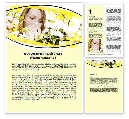 Allergy Word Template, 06083, Medical — PoweredTemplate.com