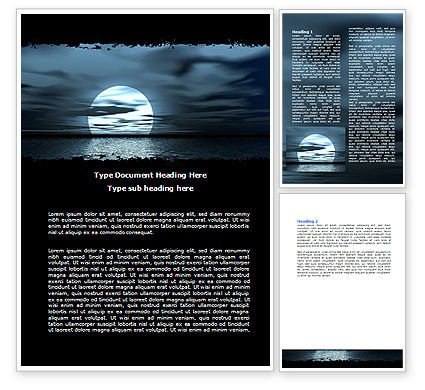 Nature & Environment: Moonrise Word Template #06090
