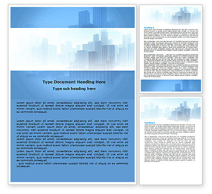 Construction: Cityscapes Word Template #06098
