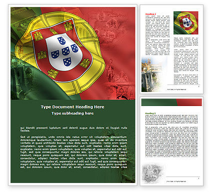 Flags/International: Free Portugal Word Template #06099