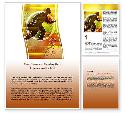 Running Out of Time Word Template, 06108, Business — PoweredTemplate.com