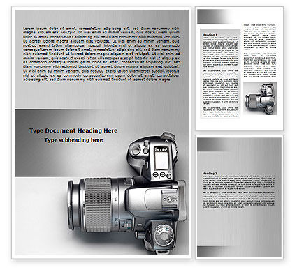 Digital Photo Camera Word Template, 06121, Careers/Industry — PoweredTemplate.com