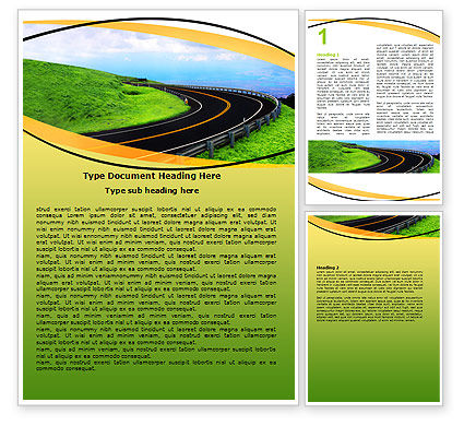 Construction: Mountain Highway Word Template #06122