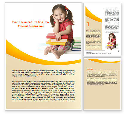 Education & Training: Little Reader Word Template #06131