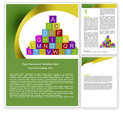 Education & Training: Alphabet Pyramid Word Template #06132