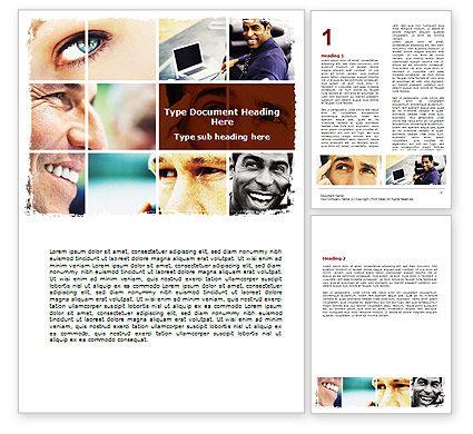 Eyes Word Template, 06140, People — PoweredTemplate.com