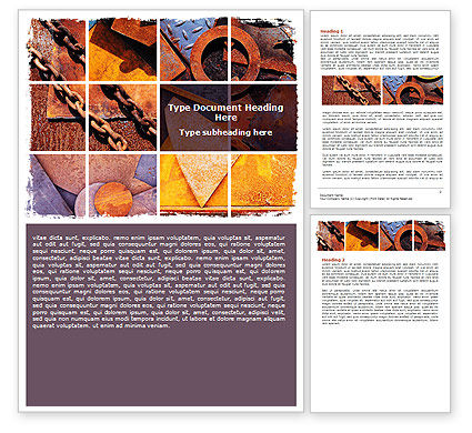Rust Word Template, 06141, Utilities/Industrial — PoweredTemplate.com