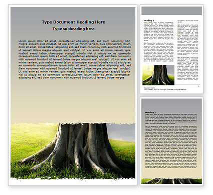 Nature & Environment: Tree Trunk Word Template #06142