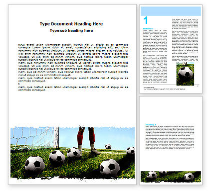 Sports: Soccer Training Word Template #06143