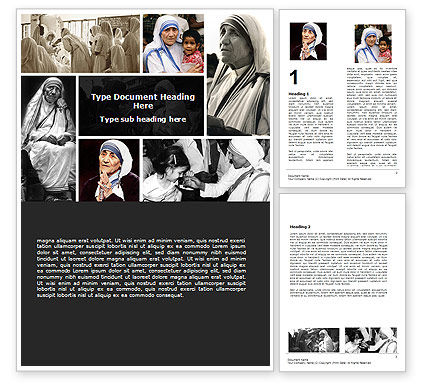 Mother Teresa Word Template