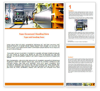 Utilities/Industrial: Automotive Assembly Line Word Template #06150
