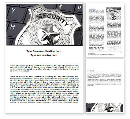 Web Security Word Template, 06153, Technology, Science & Computers — PoweredTemplate.com
