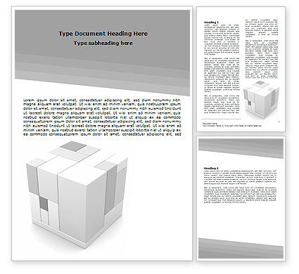 Assembled Cube Word Template, 06157, Business Concepts — PoweredTemplate.com