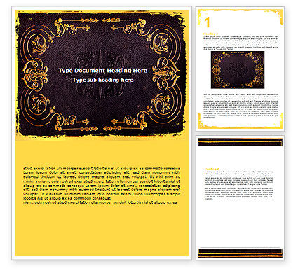 book covers template. Book Cover Word Template #