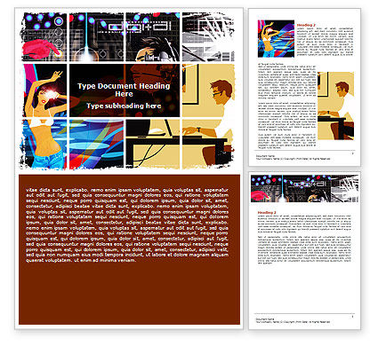 Digital Technologies Word Template, 06167, Technology, Science & Computers — PoweredTemplate.com