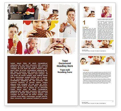 Sweet Snacks Word Template, 06170, Medical — PoweredTemplate.com