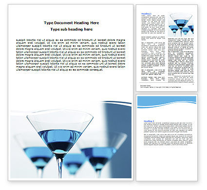 Martini Word Template, 06183, Food & Beverage — PoweredTemplate.com