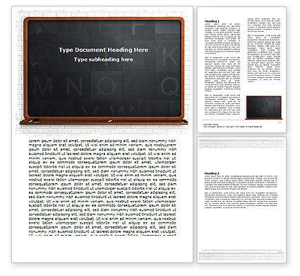Education & Training: Modèle Word de tableau noir #06184