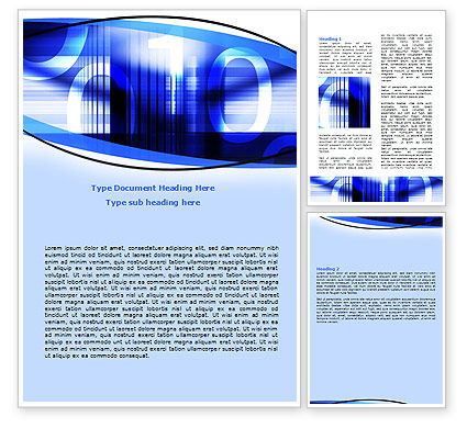 Digital Flow Word Template, 06185, Technology, Science & Computers — PoweredTemplate.com
