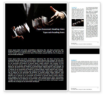 Card Trick Word Template, 06190, Careers/Industry — PoweredTemplate.com