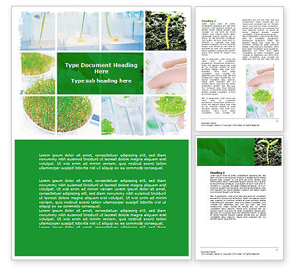 Technology, Science & Computers: Free Plant Breeding In Laboratory Word Template #06192