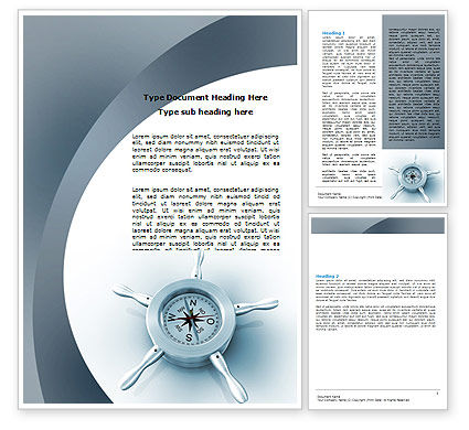 Business Concepts: Steering Wheel Word Template #06194